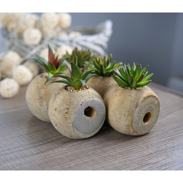 MODA MDW-1023-902S wood pot decoration - 9.06*3.23**H4.72. Opens flyout.