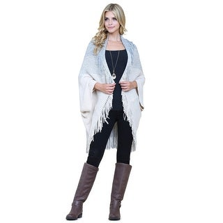 Riah Fashion's Three Tone Ribbed Fringe Cardigan