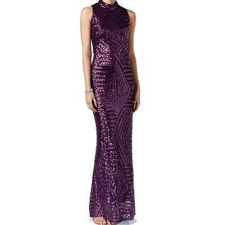 Vince Camuto NEW Purple Women's Size 10 Open-Back Sequin Ball Gown
