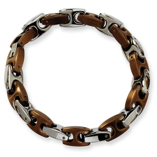 Chisel Stainless Steel Brown Color IP-plated Fancy Bracelet