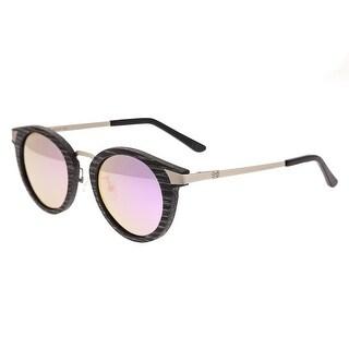 Earth Wood Zale Unisex Wood Sunglasses - 100% UVA/UVB Prorection - Polarized/Mirrored Lens - Multi