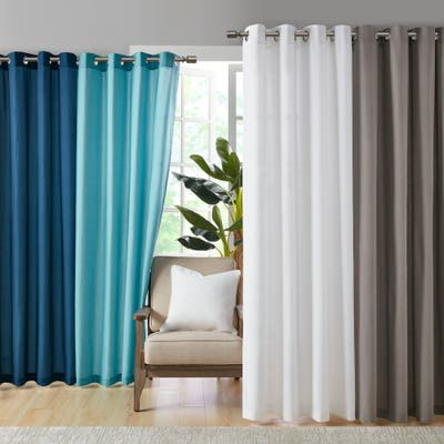 Madison Park Mission Solid 3M Scotchgard Outdoor Curtain Panel