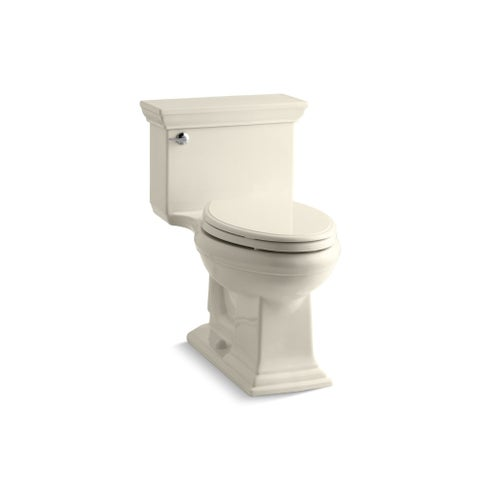 Kohler K-3813 Memoirs Stately 1.28 GPF One-Piece Elongated Comfort Height Toilet with AquaPiston Technology - Seat Included