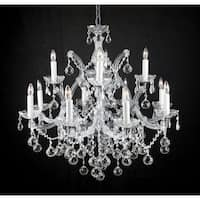 Swarovski Crystal Trimmed Chandelier Lighting  With Crystal Balls