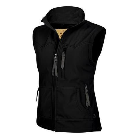 StS Ranchwear Western Vest Womens Barrier Zipper Front Black