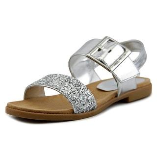 Nine West Celeste Youth Open-Toe Synthetic Silver Slingback Sandal