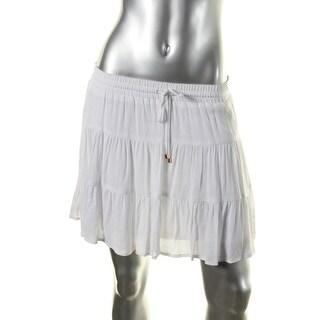 Ella Moss Womens Gauze Embroidered Mini Skirt - XS