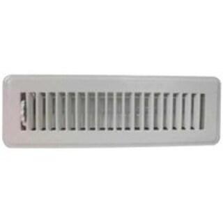 "Mintcraft FR01-2X10W Floor Register, 2"" x 10"", White"
