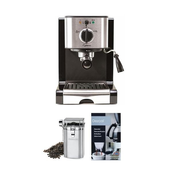 Capresso EC100 Pump Espresso and Cappuccino Machine (Black) Bundle. Opens flyout.