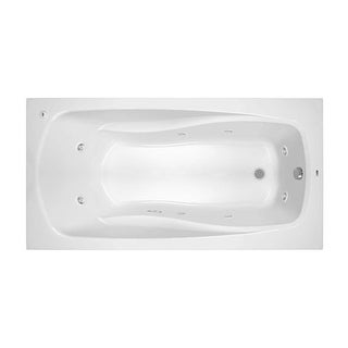 """ProFlo PFWPLUSA7236 72"""" x 36"""" Whirlpool Bathtub with 8 Hydro Jets and EasyCare Acrylic - Drop In or Alcove Installation"""