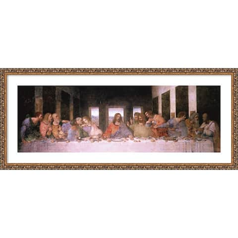 The Last Supper (Detail) by Leonardo da Vinci 42-inch x 18-inch Framed Wall Art Print