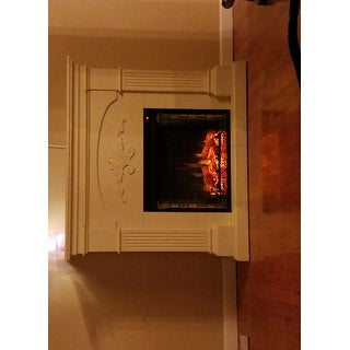 Harper Blvd Gilbert Ivory Electric Fireplace