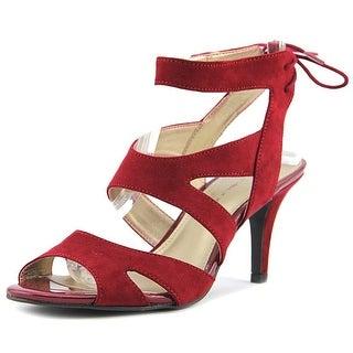 Bandolino Misilana Women Open Toe Canvas Burgundy Sandals