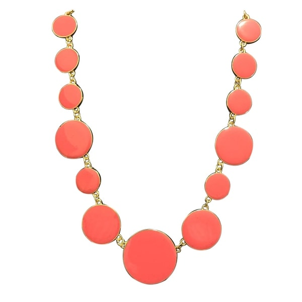 max & MO Gold Resin Disc Linked Necklace