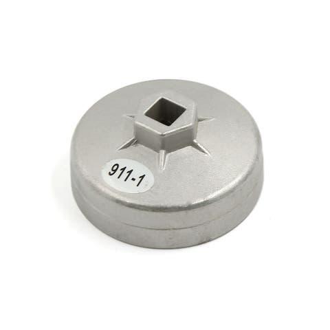 Unique Bargains 79MM Inner Dia Aliminum Alloy Car Oil Filter Wrench Cap Remover Tool 15 Flutes