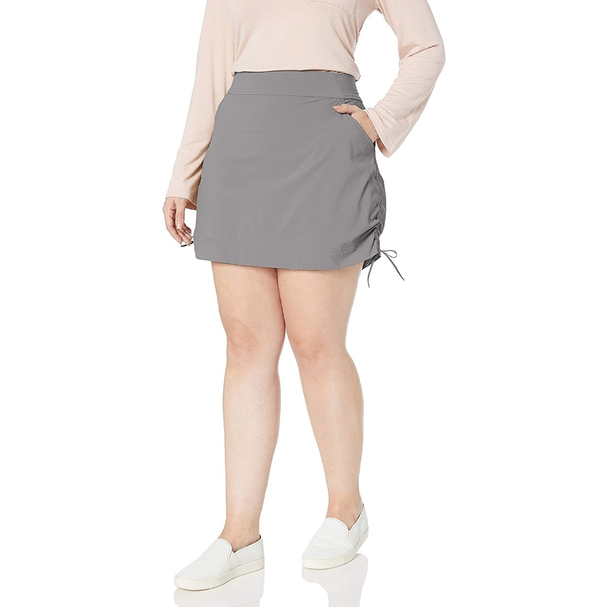 Ideology Womens Tiered Pull On Skort Bright White