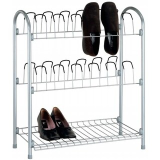 Organize It All 12 Pair Wire Shoe Rack With Storage Shelf - Pack of 3