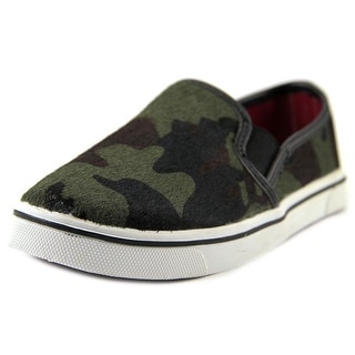 DV Kids Ikara Youth Round Toe Suede Green Sneakers