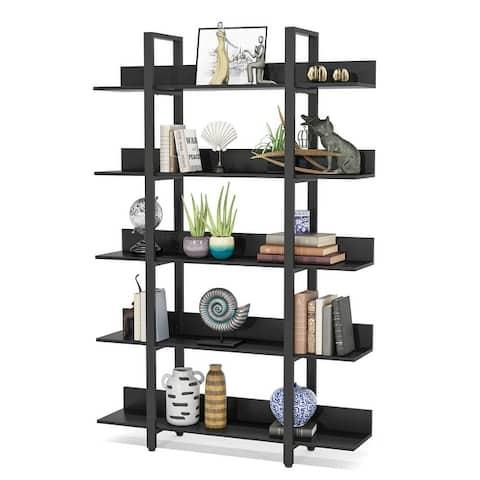 5-Tier Bookshelf, Rustic Industrial Style Book Shelf