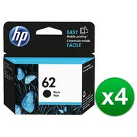 HP 62 Black Original Ink Cartridge (C2P04AN) (4-Pack)
