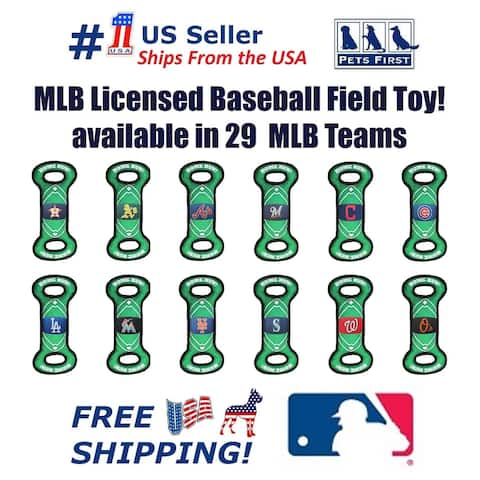MLB Baseball Field Toy for DOGS/CATS. Heavy-Duty, Durable pet toys with Squeakers