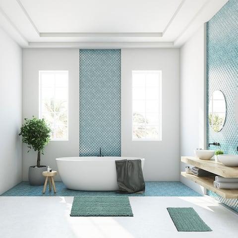 Soft Microfiber Shaggy Non Slip Bath Mat Shower Rugs Door Carpet
