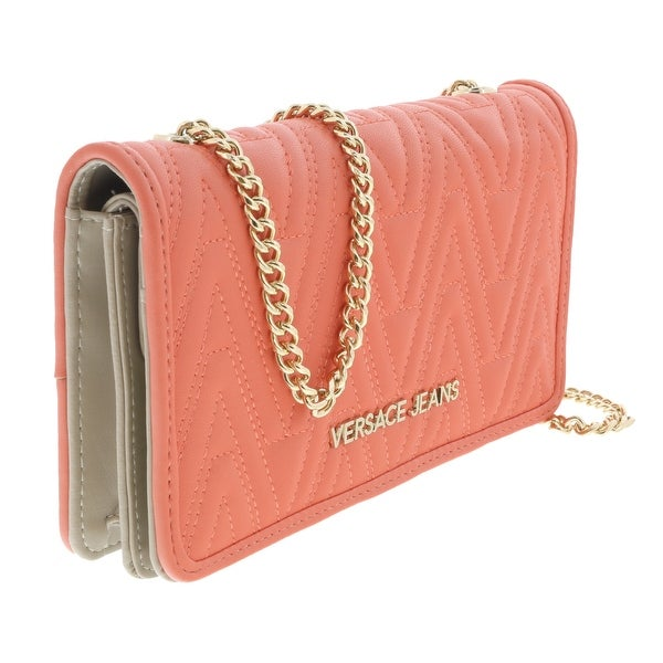 Versace EE3VRBPY4 Coral Wallet on Chain - 7.5-4.5-1