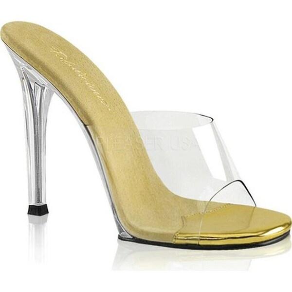 154d91a9f35 Fabulicious Women's Gala 01 Slide Clear PVC/Gold/Clear