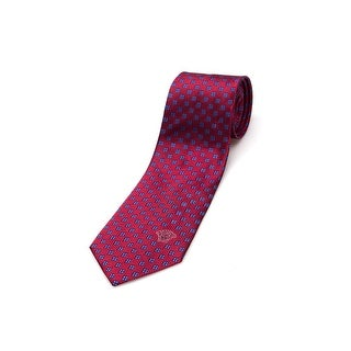 Versace Medusa Men Slim Silk Neck Tie CR8LSEB0893 0002 Red Blue