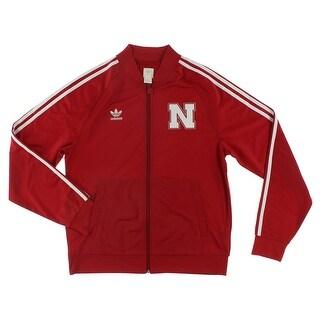 Adidas Mens University Of Nebraska Legacy Track Jacket Power Red - power red/white