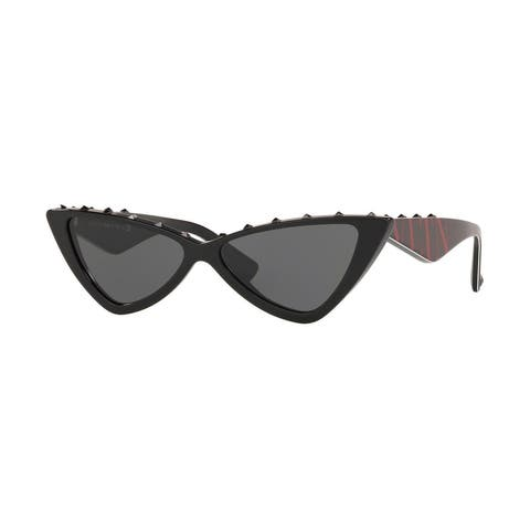 Valentino VA4064 500187 55 Black Woman Cat Eye Sunglasses