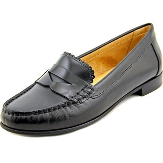 Jack Rogers Quinn Women Round Toe Leather Black Loafer