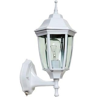 Boston Harbor DTDW Dusk/Dawn Outdoor Lantern, White