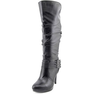 Style & Co Lindie Wide Calf Women Round Toe Synthetic Black Knee High Boot