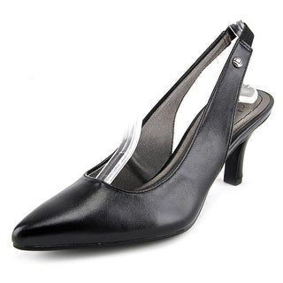 Life Stride Shena Pointed Toe Synthetic Slingback Heel