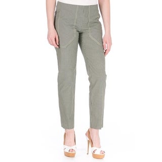 Carven Womens Gabard Ankle Pants Checkered Casual
