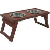 New Age Pet Ehhf203s Dog Bowl Double Raised Sml Russet