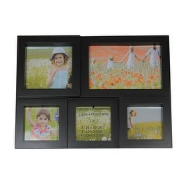 """11.5"""" Black Multi-Sized Puzzled Photo Picture Frame Collage Wall Decoration"""