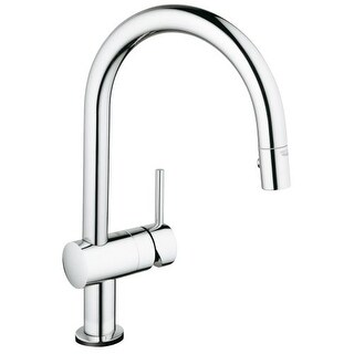 Grohe 31 378 Minta Pull Down High Arc Kitchen Faucet With 2 Function
