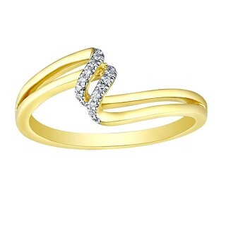 Prism Jewel 0.03CT Round Cut Natural G-H/I1 Diamond Light Weight Twisted Ring - White G-H