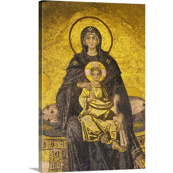 """Turkey, Hagia Sophia Mosque, mosaic depicting Virgin Mary with baby Jesus"" Canvas Wall Art"