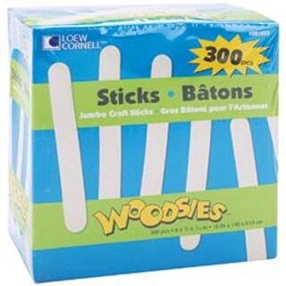 """Natural 6"""" 300/Pkg - Woodsies Jumbo Craft Sticks"""