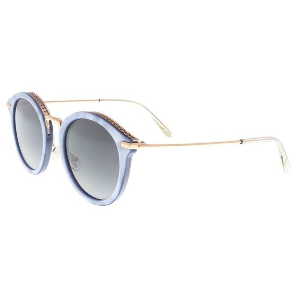 c6060fabf0f3 Shop Jimmy Choo BOBBY S JAG Aqua Pearl Round Sunglasses - 49-24-145 ...