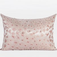 "G Home Collection Luxury Pink Leopard Pattern Handmade Beaded Pillow 14""X20"""