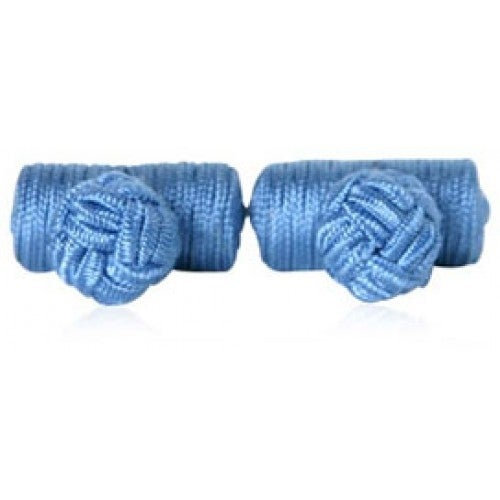 Steel Blue Silk Knots Cufflinks