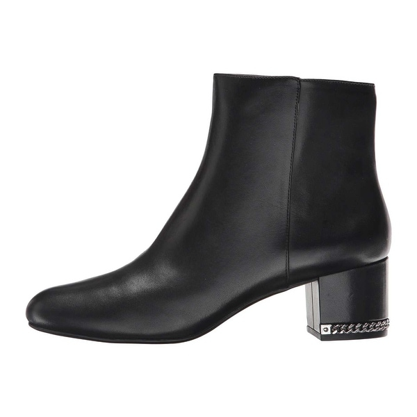 9df8a99185a25 MICHAEL Michael Kors Womens Sabrina mid bootie Leather Closed Toe Ankle  Fashi.