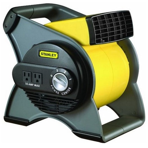 Stanley 655704 High Velocity Blower Fan, Black And Yellow
