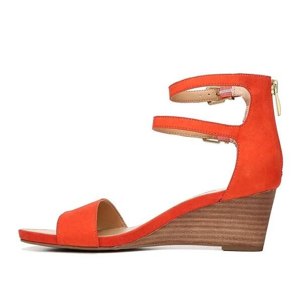 Franco Sarto Womens Dade Leather Open Toe Casual Ankle, Orange Le, Size 6.0