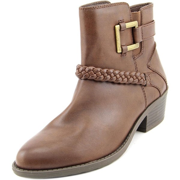 Easy Street Bridle Women Round Toe Synthetic Brown Ankle Boot