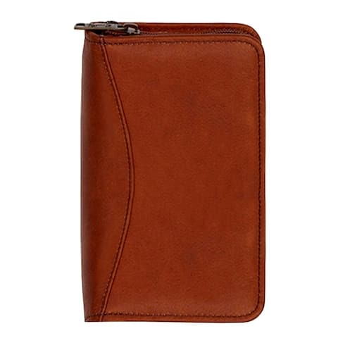 Scully Western Planner Soft Plonge Leather Zip Wirebound - One Size